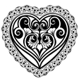 Valentines Day tatto heart vector image