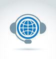 World on the air call center information vector image