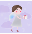 Angel with gift vector image vector image