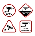 Security camera set sticky labels vector image vector image