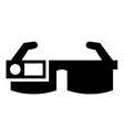 Smart glasses icon vector image vector image