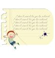 Funny school boy vector image vector image