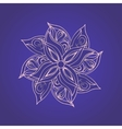 Abstract floral pattern against purple background vector image