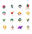 Set of various geometric icons - rectangles vector image