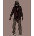 cartoon terrible bloody zombie vector image