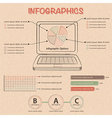 infographic with laptop and design elements vector image vector image
