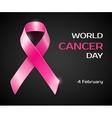 pink ribbon breast cancer awareness symboll vector image