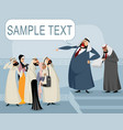 arabic speaker and his listeners vector image