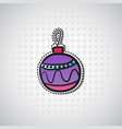 christmas ball sticker new year badge vector image