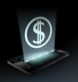 Dollar icon on the screen vector image