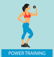fitness power training flat vector image