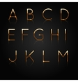 Golden alphabet Set of golden letters isolated on vector image
