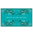 invite to the wedding vector image