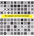 Set of ninety patterns vector image
