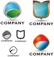 shield logo and icon set vector image