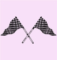 Two Checker Flags Crossed vector image