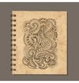 Notebook design zenart ornament Old grunge paper vector image