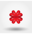 Red bow Flat vector image
