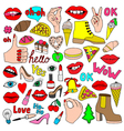 cartoon patch badges vector image