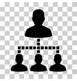 people hierarchy icon vector image