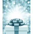 Gift box and light christmas background vector image vector image