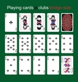 Playing cards Clubs Bridge size vector image vector image