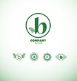 Letter B small logo vector image