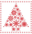 Xmas tree made out of snowflakes vector image