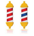 Barber poles vector image