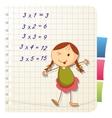 Funny school girl vector image