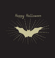 halloween greeting card holiday background with vector image