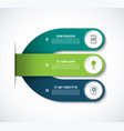 infographic template with 3 steps options vector image