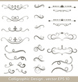 Set of hand drawn calligraphic and decorative vector image