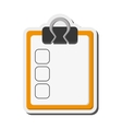 clipboard with check list icon vector image