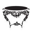 Baroque Elegant imperial classic round table vector image