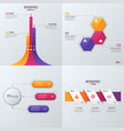 Collection of templates for infographics vector image