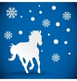 greeting card with silhouette horse vector image vector image