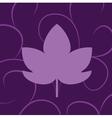 leaf of grape violet vector image vector image