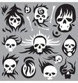 skulls cartoons vector image