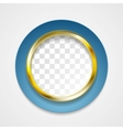 Corporate golden circle for web design vector image