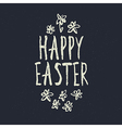 easter grunge calligraphic design vector image vector image