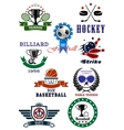 Set of sport games icons and symbols vector image vector image