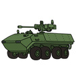 Green armoured vehicle vector image
