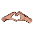 hands with heart on a white background EPS vector image