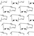 African hippopotamus sketch seamless pattern vector image