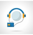 Audio courses flat color design icon vector image