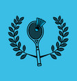 badminton sport emblem icon vector image
