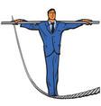 businessman - rope walker vector image