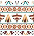 Ethnic border pattern design vector image