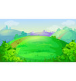 game background with summer meadow hills vector image